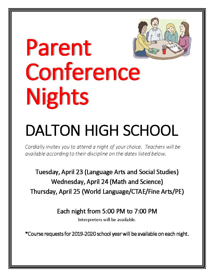 Parent Conferences Nights English