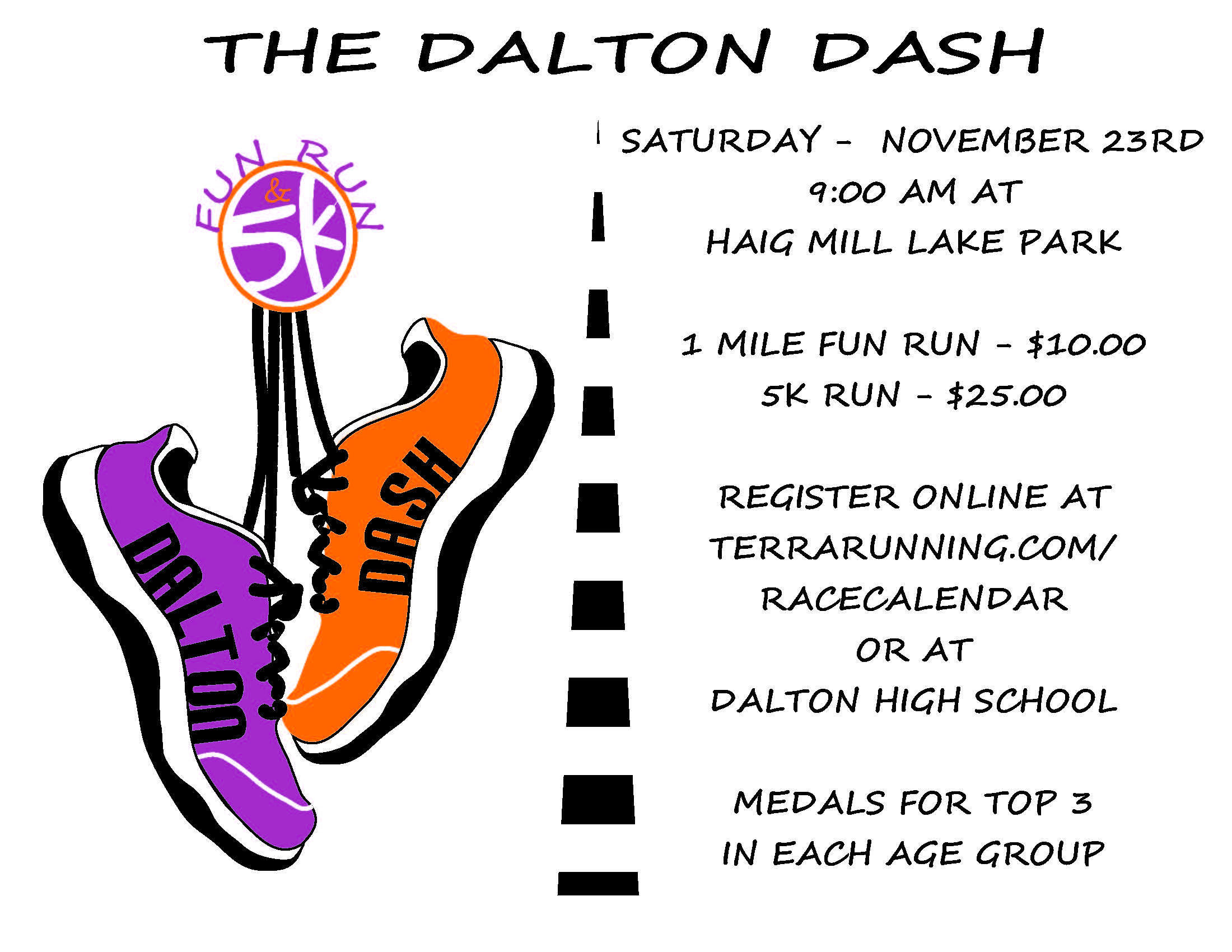 The Dalton Dash graphic