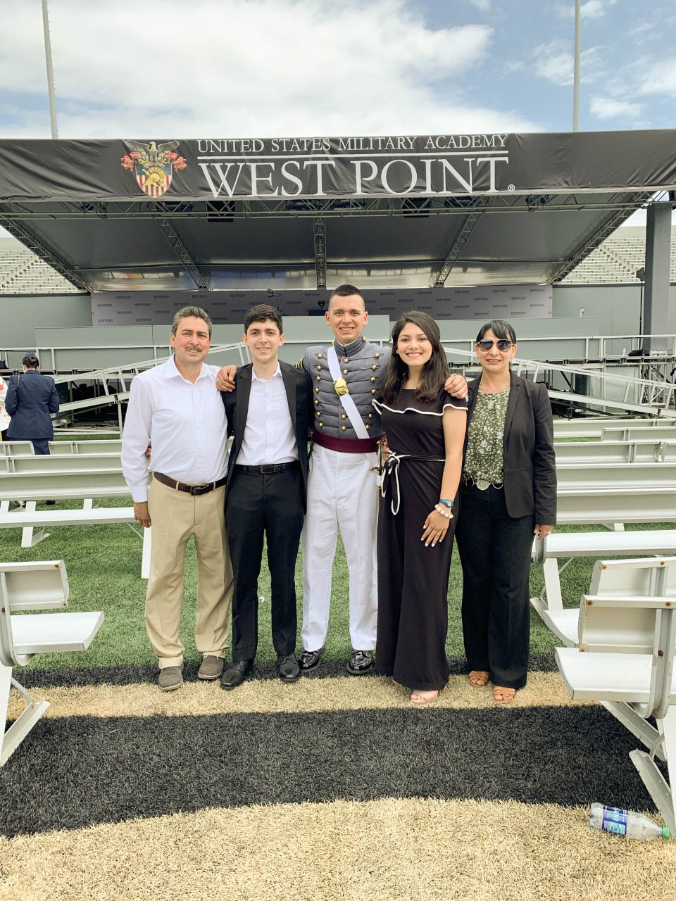 Jesus Cortez and four family members at West Point