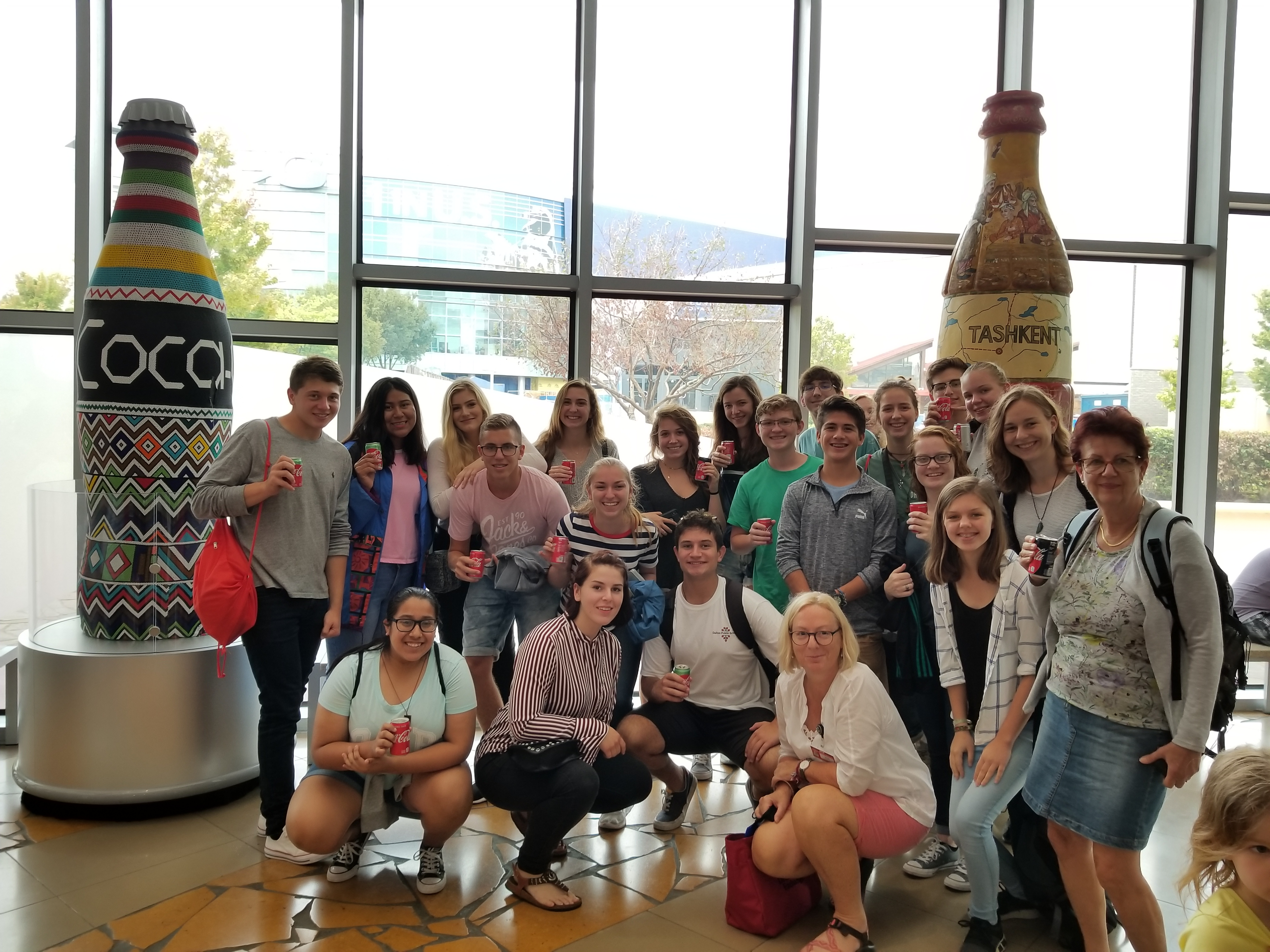 Group Visits the World of CocaCola
